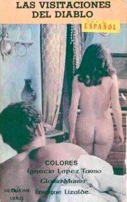 Visitaciones del diablo video box, featuring Pilar Pellicer's butt.